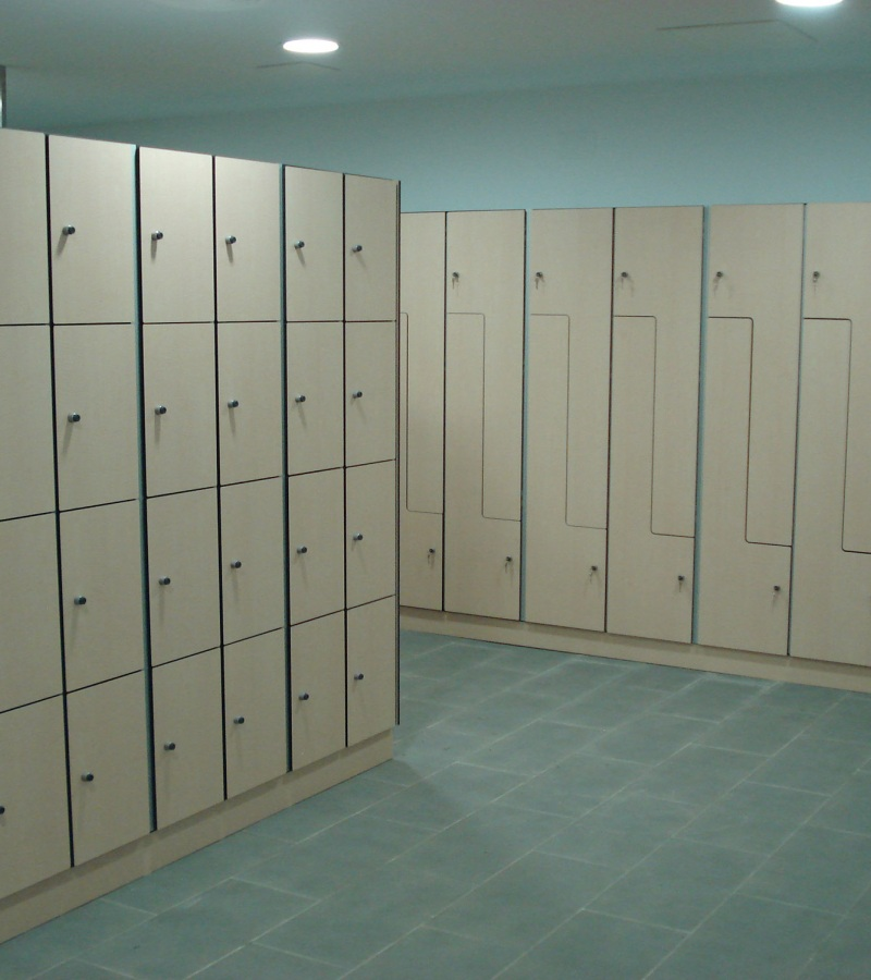 Lockers and changing room